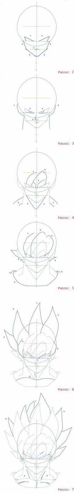 Desenhando goku ssj passo 2 ao final~ Draw ProjecT