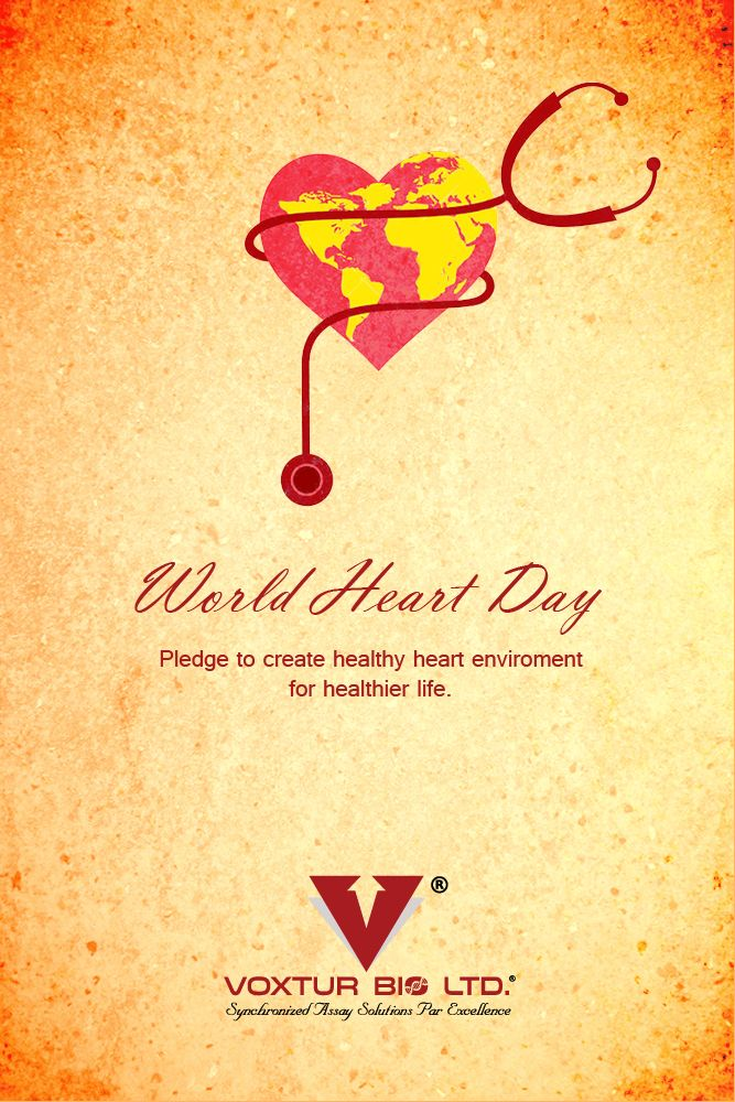 Heart Day is part of an international campaign to spread awareness about heart disease and stroke prevention. This is the perfect day to quit smoking, get exercising and start eating healthy – all in the name of keeping your ticker in good working order, and improving the health and well being of people the world over.  #worldheartday #voxturbio #heartday #healthyheart #WHD2017 #Fitness #fitnessclub #health #medicalscienece #bioproducts #heartcare #care