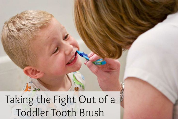 Taking the Fight Out of a Toddler Tooth Brush - Peaceful Parents, Confident Kids (also note about diaper changing--she asked where he wanted his diaper changed)