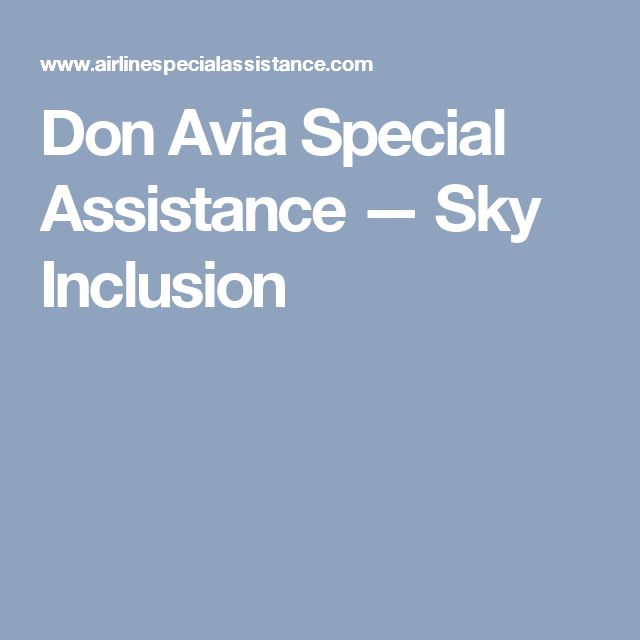 Don Avia Special Assistance — Sky Inclusion