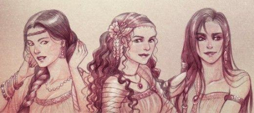 Beautiful like the three daughters of Job