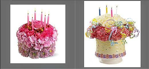 birthday cake flower arrangement ideas