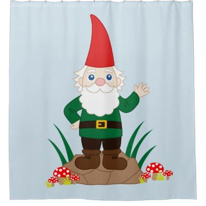 Funny Garden Gnome Shower Curtain