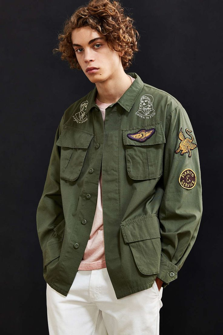 Deus Ex Machina Military Shirt Jacket - Urban Outfitters