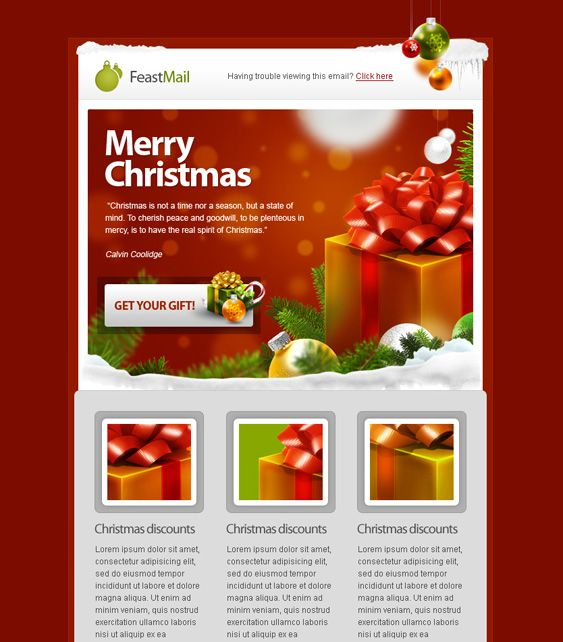 17 Best images about 12 of the Best Holiday Christmas Email – Holiday Newsletter Template