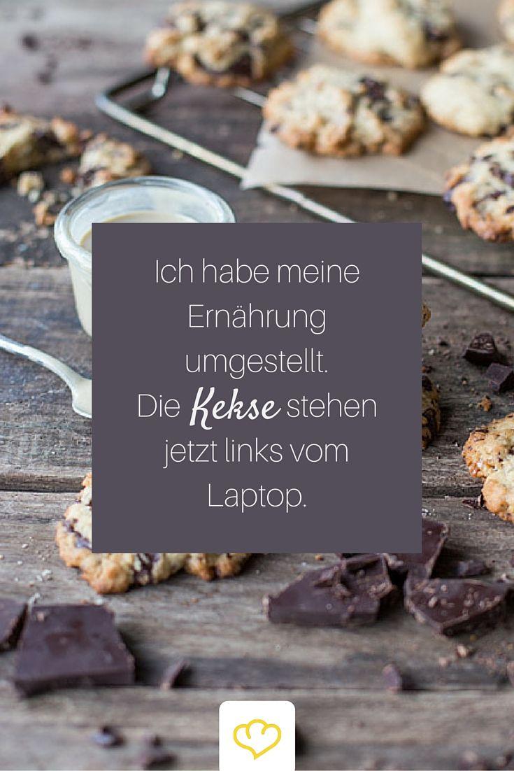 #Ernährung #Diät #Kekse #Zitat #Witz Ja, so eine Ernährungsumstellung kann manchmal wirklich hart sein. Manchmal aber auch nicht. ;)