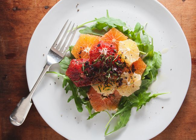 citrus salad with rosemary and olives by The Tart Tart