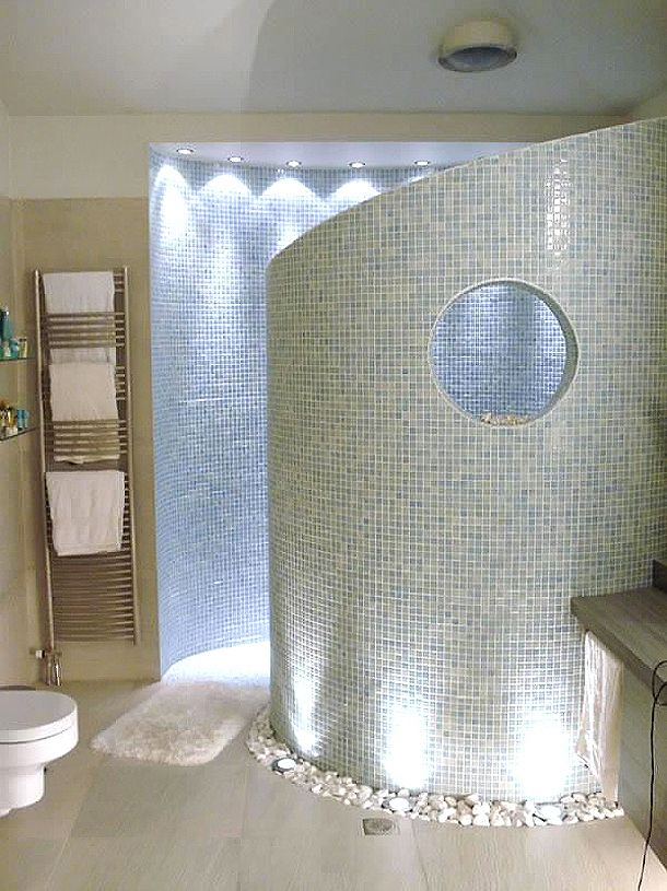 Oikia Panorama Residence - a gorgeous idea for a shower!