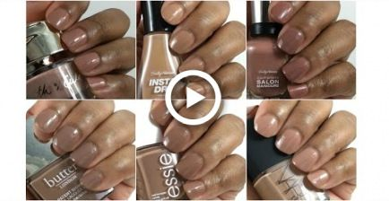 Nude Nail Polishes on Brown Skin