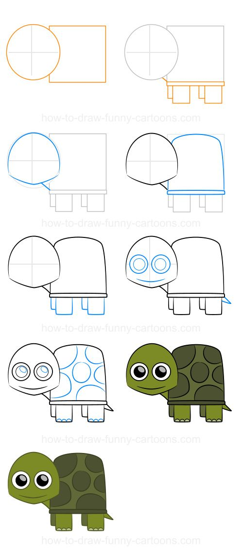 how to draw franklin the turtle