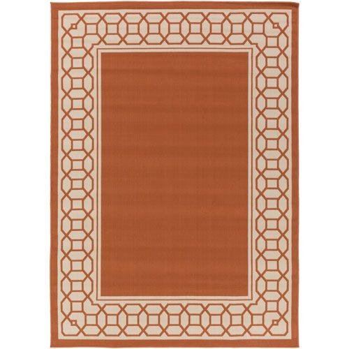 Marina Rust and Ivory Rectangular: 3 Ft 11 In x 5 Ft 3 In Rug - (In Rectangular)