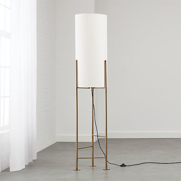 Haus White Floor Lamp + Reviews   CB2 (With images)   White