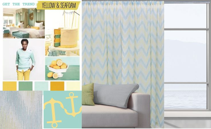 Get the Trend!! yellow & seafoam .. by Das home !!