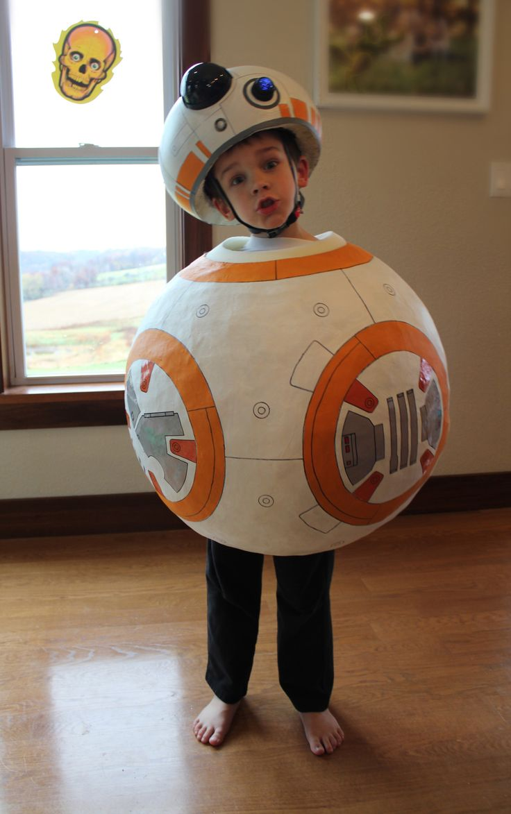 My son wanted to be BB-8 for Halloween. Problem: You can't buy a BB-8 costume. Solution: I'm damn crafty!