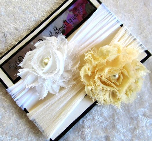 Shabby chic headbands.