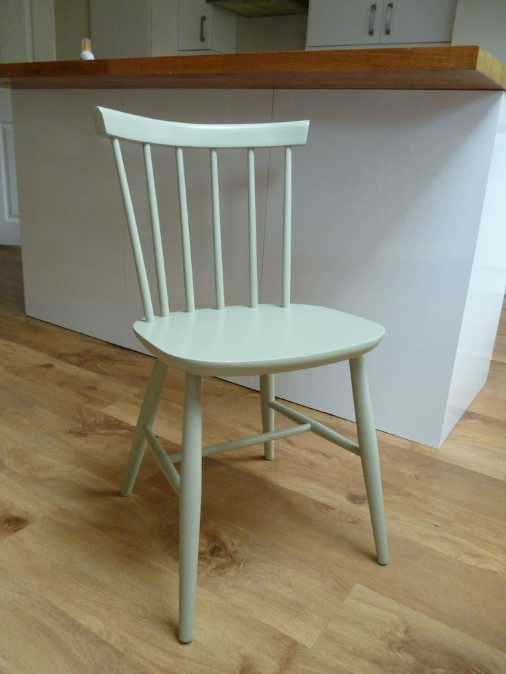 Bow back vintage kitchen chair painted in Farrow  Ball