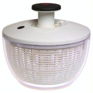 Salad Spinner — a real multi-use gadget on a boat. It's a bowl, strainer, drainer and veggie washer all in one!