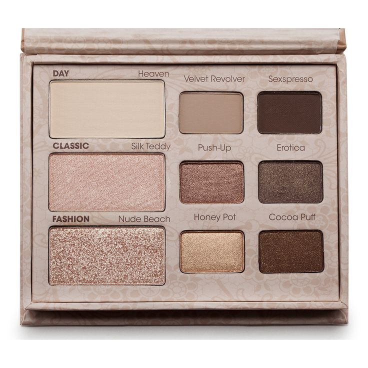 Too Faced Natural Eye Collection: I have this palette and I love how I can use all kinds of neutral eye shadow ideas :) some are matte and some are shimmery but the ones that are shimmery look beautiful! not kid like.