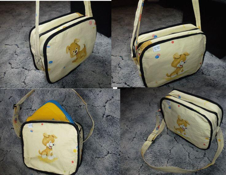 Kindertasche für Laptop mit Reißverschluß, selber genäht, eigenes Schnittmuster