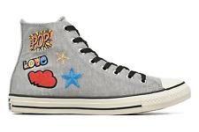 Uomo Converse Chuck Taylor All Star Hi Patches M Sneakers Grigio - Taglia 44