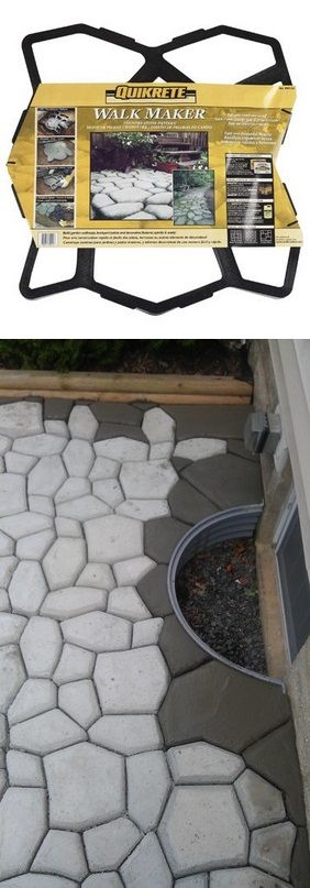 Quikrete Walk Maker-- maybe this for the garden path...