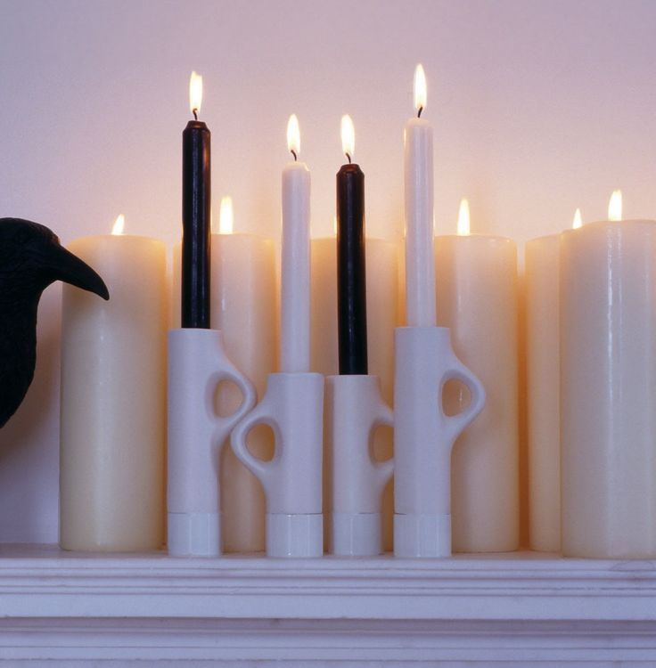 Lys Candle Holder B&B Italia, an inspiring piece being a modern recreation of the victorian candle holder.