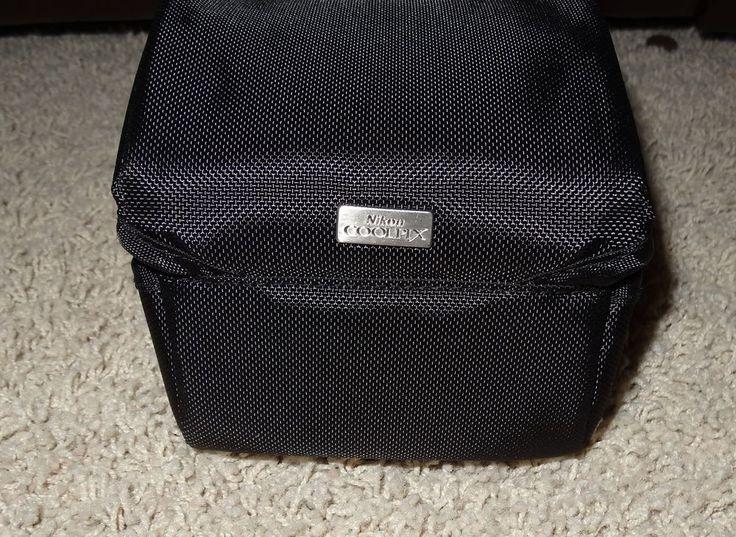 Nikon Coolpix Black Fabric Camera Case Fits P90 Camera~ New Authentic! Lg Sz JB #Nikon