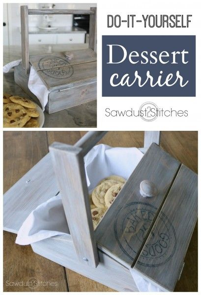 Make your own Dessert Carrier/ Pie Box! Complete build plans on Sawdust 2 Stitches