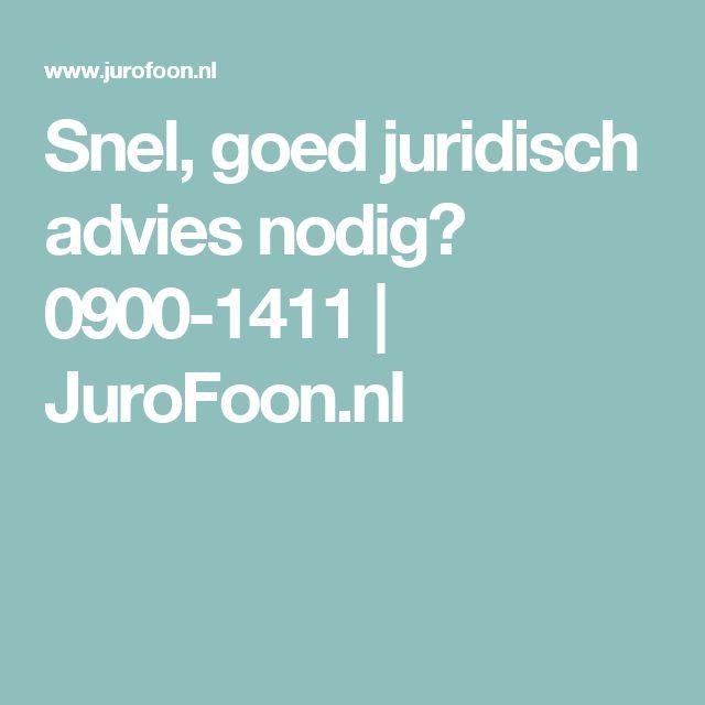 Snel, goed juridisch advies nodig? 0900-1411 | JuroFoon.nl