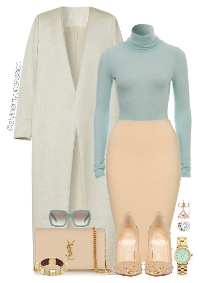 Untitled #1798 by dnicoleg on Polyvore featuring polyvore fashion style E L L E R Y Christian Louboutin Yves Saint Laurent Marc by Marc Jacobs Givenchy Prada MANGO clothing