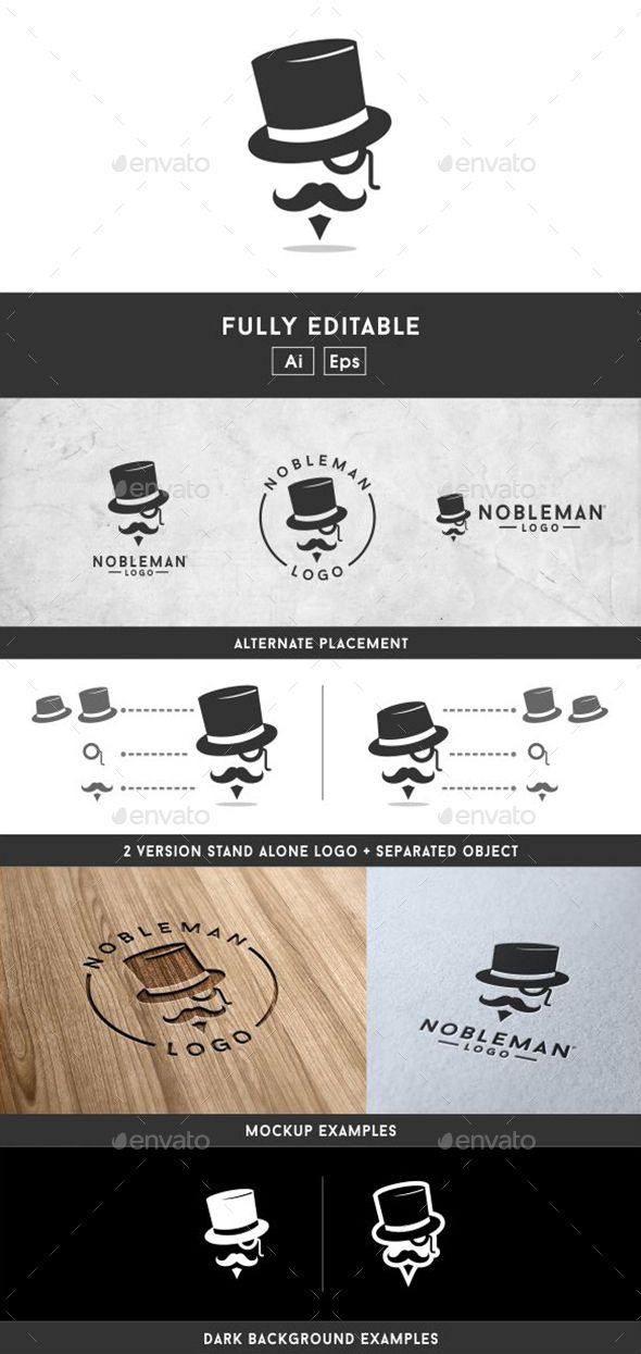 Gentleman Logo — Vector EPS #costume #gentleman • Available here → https://graphicriver.net/item/gentleman-logo/14458657?ref=pxcr