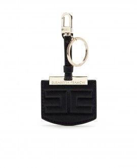PORTACHIAVI LOGO ELISABETTA FRANCHI NERO Esclusivo design per questo portachiavi dalla grafica iconica ideale per accessoriare chiavi o borse. Non fatevi scappare un moderno accessorio must della stagione.