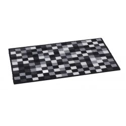 Paillasson design pixel gris