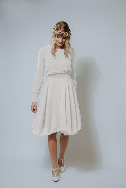 """Knielange Kleider - Kleid """"Zuckerwatte Wedding"""" - Brautkleid - ein Designerstück von Ave-evA bei DaWanda"""