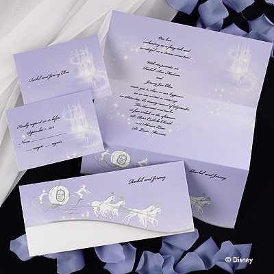 Draw Your Guest Into Fairy Tale With This Shimmery Lavender Tea Length Disney Wedding