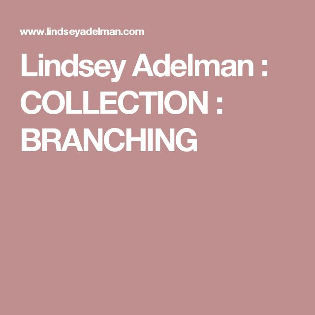 Lindsey Adelman : COLLECTION : BRANCHING