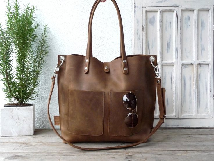 Large leather tote bag, Leather tote, Tote bag leather, Tote bag, Leather tote woman, Leather tote, Leather tote, Emma Frontpocket - brown! by SanumiLeatherGoods on Etsy https://www.etsy.com/listing/252274111/large-leather-tote-bag-leather-tote-tote
