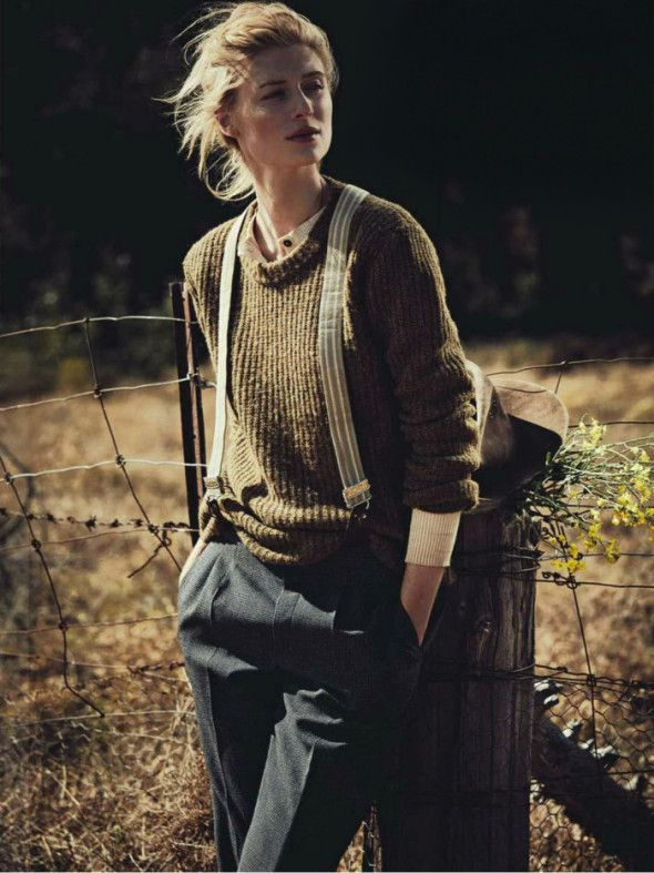 Elizabeth Debicki photographed by Will Davidson for Vogue Australia December 2012 | styled by Gillian Davidson  Who can imagine farm style to look so stylish