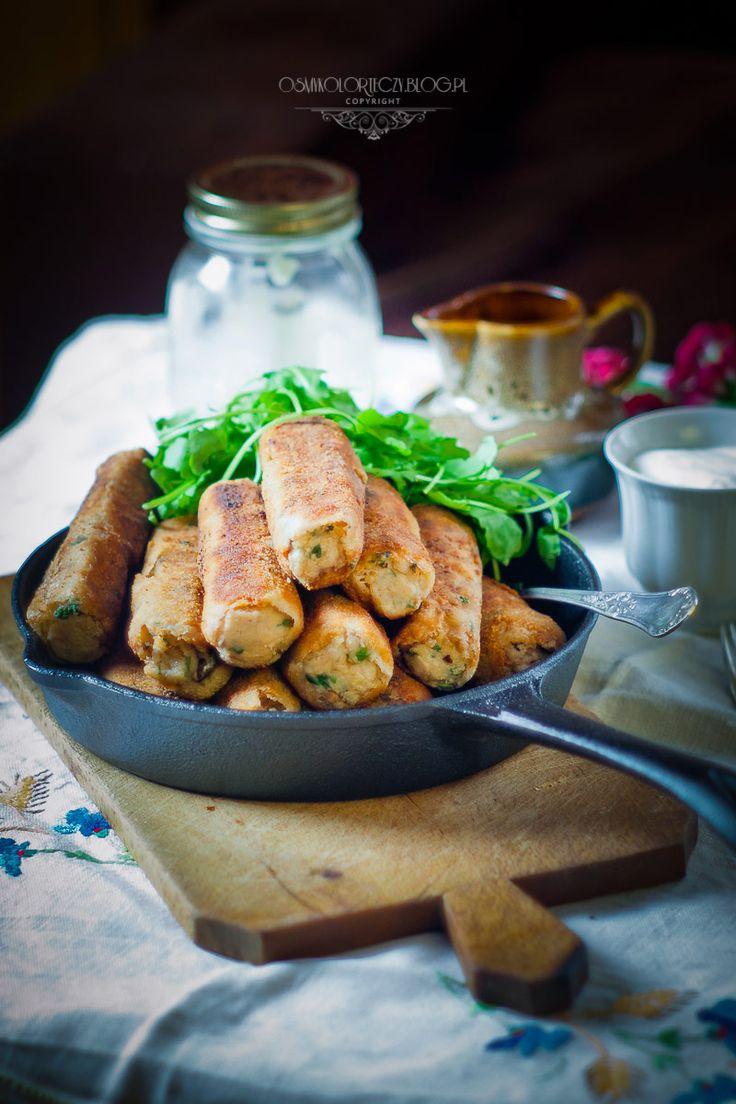Potatoe croquettes with walnuts.