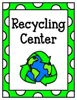 Let your little ones learn while playing with this fun pretend play recycling center pack. Pages come in both color and black and white. Pages Included: -Recycling Center Sign -Recycling Center Posters 8.5x11 (metal, glass, plastic, paper) -Recycling Center
