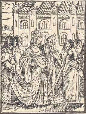 Hans Holbein's Dance of Death Woodcuts - The Empress