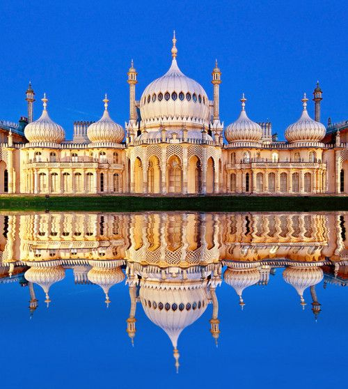 The 'onion' domes of the Royal Pavilion - it's easy to see from this shot that the design was inspired by the Taj Mahal!