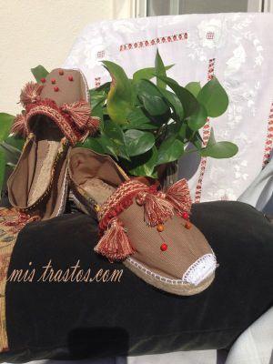Zapatillas de Esparto Decoradas a mano,Espardeñas