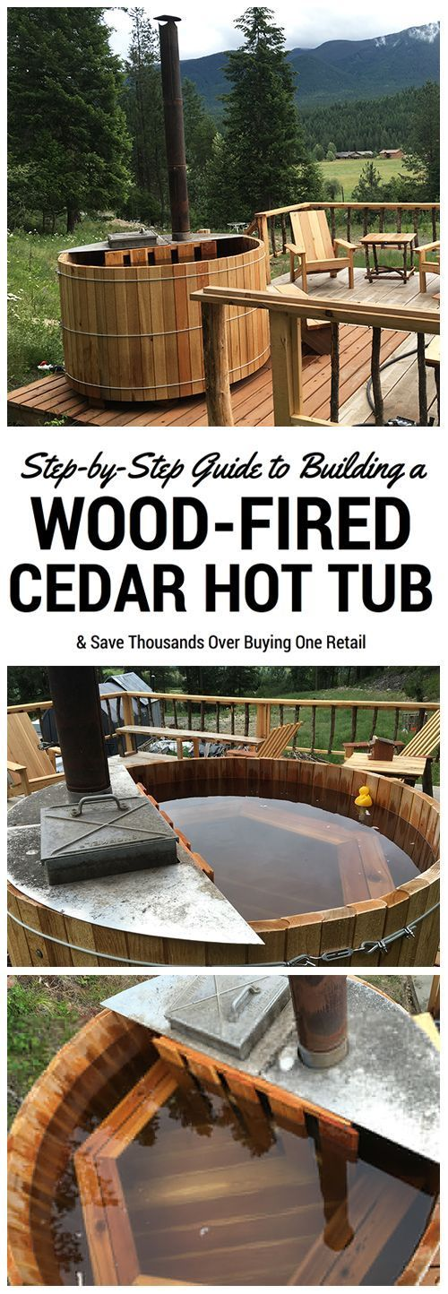 Such a great thing to have on an off grid homestead! A DIY wood fired cedar hot tub.