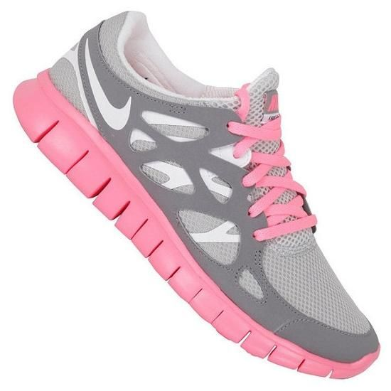pink & gray nikes- I don't like Nike because they endorse a dog abuser, but  I do like this shoe.