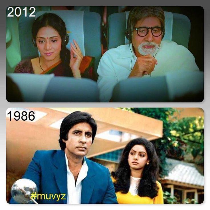 """2 Likes, 1 Comments - muvyz.com (@muvyz) on Instagram: """"#RIPSridevi #Sridevi #srideviji 🌹 #AmitabhBachchan #HitPair #BollywoodFlashback #muvyz022718…"""""""