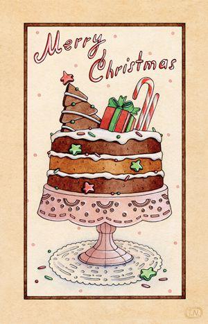 christmas desserts | 2013 by Natalia Tyulkina, via Behance