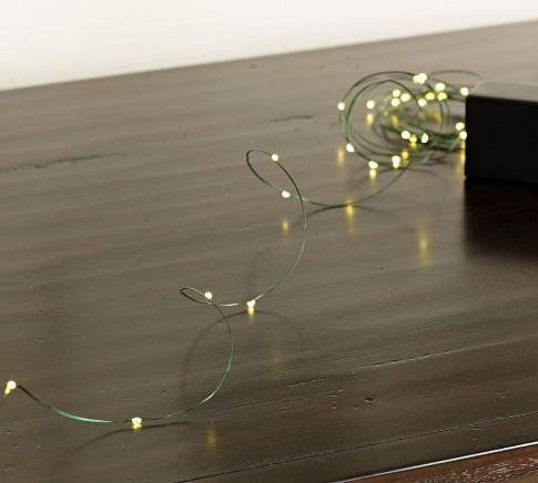 Mini LED String Lights | Pottery Barn 25 might look like mini pearls though