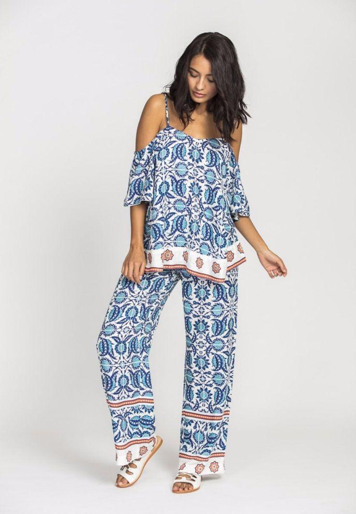 Solito - Rehana Wide Leg Pant In Marrakech