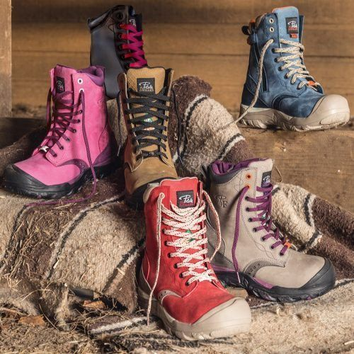 Women's steel toe work boots. Waterproof, CSA approved, Slip resistant.